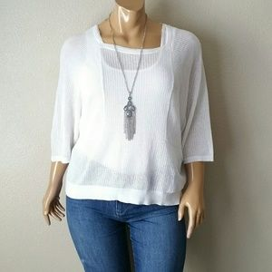 Chico's Mesh White Blouse